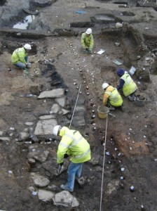 Type 1 Viking house under excavation Dublin
