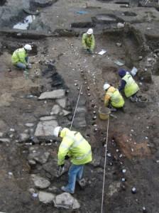 Type 1 Viking house under excavation Dublin