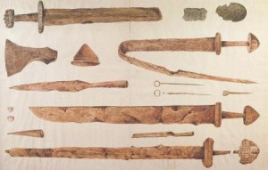 Viking swords and axes
