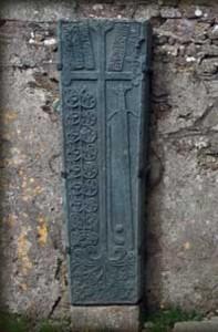 A galloglass grave slab