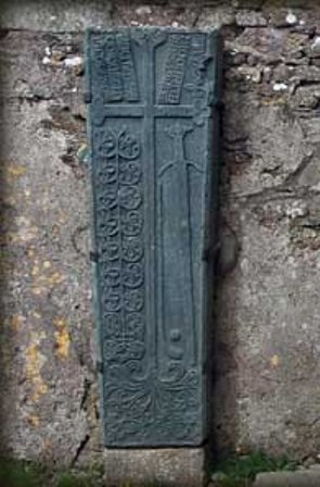 A galloglass grave slab