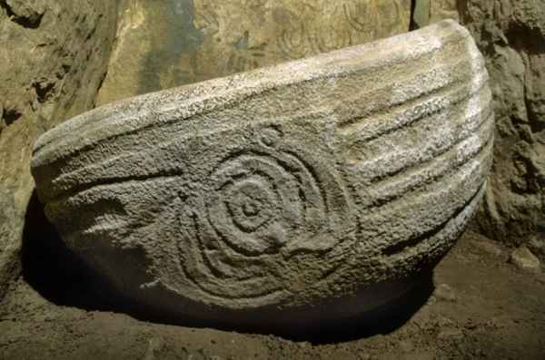 Stone Basin, East passage, Knowth Passage Tomb,  Co. Meath,  Ireland