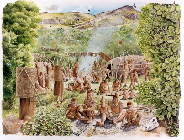 Mesolithic camp Mount Sandel