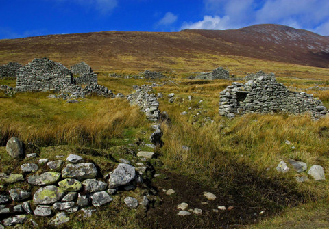 The Deserted Village, Slievemore, Achill Island, Mayo by Katharine Range