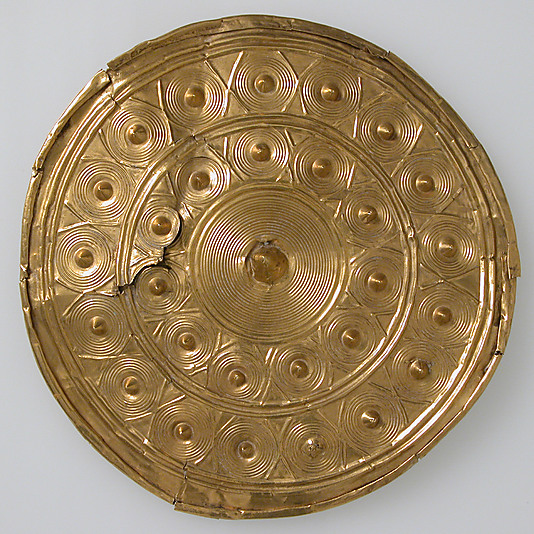 Bronze age gold ear spool