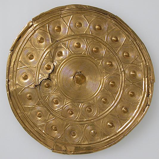 Bronze age gold ear spool