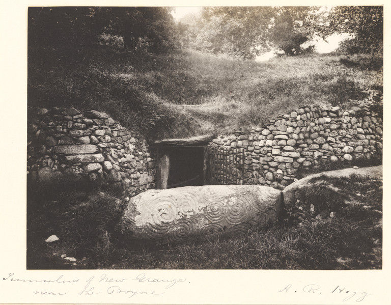 Newgrange entrance 19th century