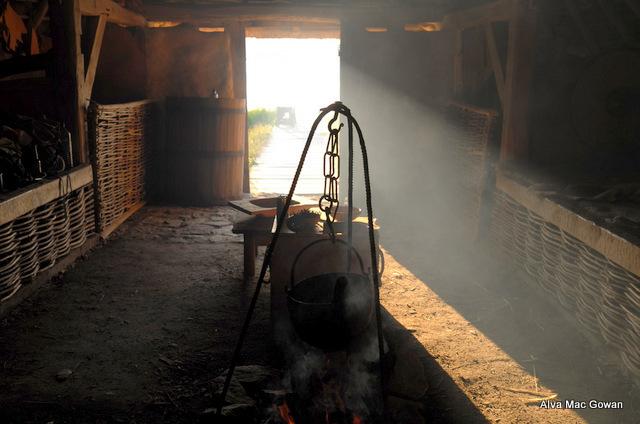 Inside Viking house