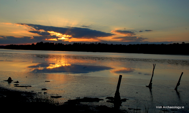 Midsummer sunset over the River Slaney