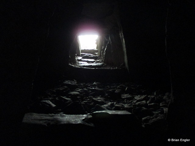 Inside a Neolithic tomb at Carrowkeel, Sligo