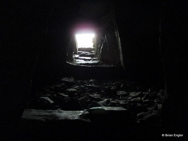 Inside a Neolithic tomb at Carrowkeel, Sligo