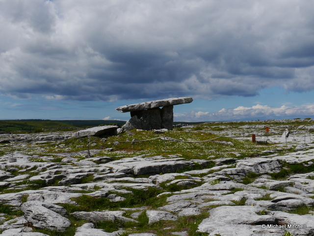 Poulnabrone portal tomb in County Clare