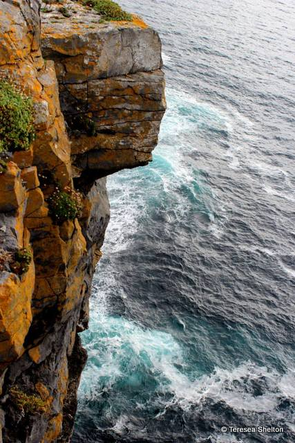 cliff side of Dún Aonghasa, Inishmore.