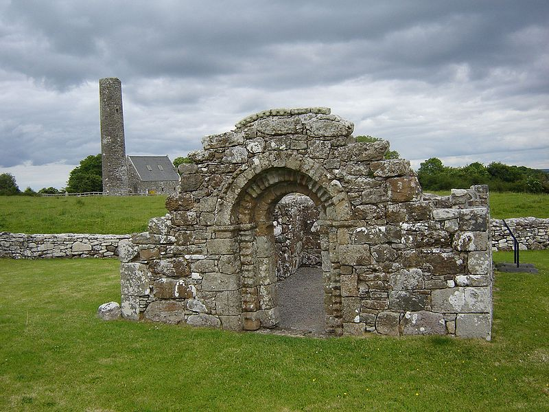 The ruins of St. Brigid's Church, Inis Cealtra (source)