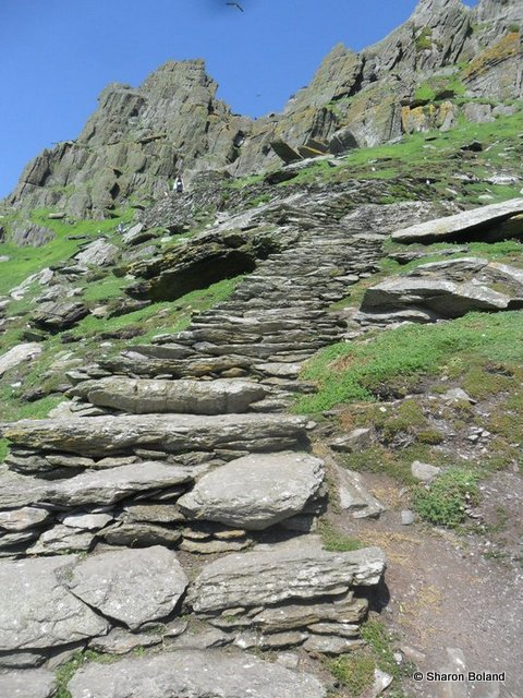 Ascent to Skellig Michael