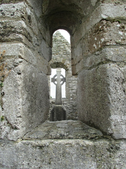 Celtic Cross at Clonmacnoise
