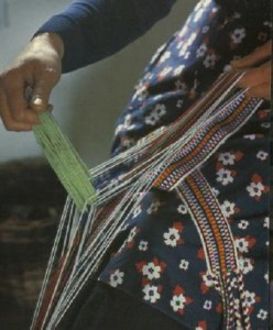 A Crios being woven by hand (image David Shaw Smith)