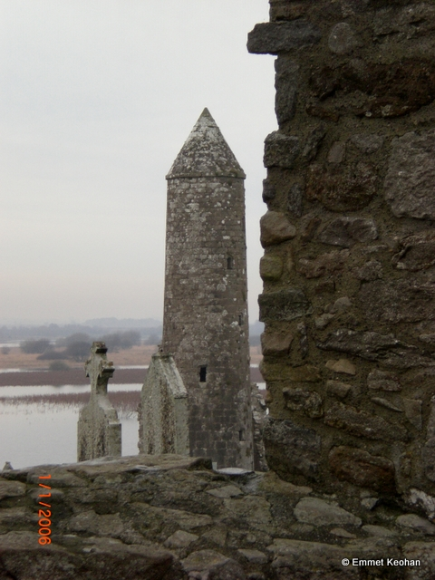 Temple Finghin from the Cathedral Clonmacnoise