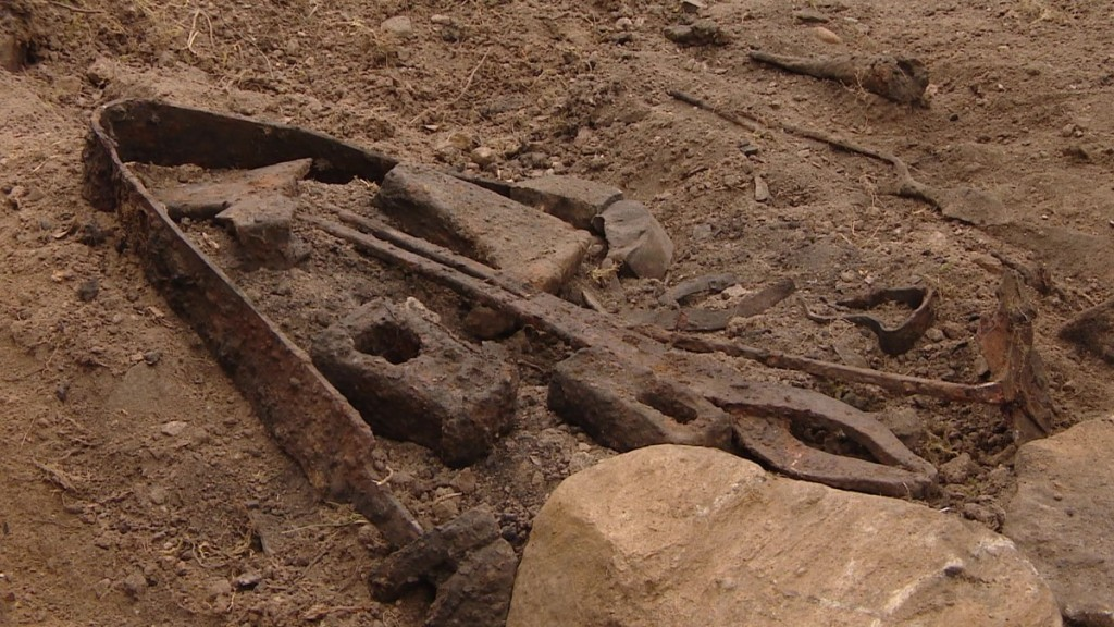 Viking blacksmiths grave