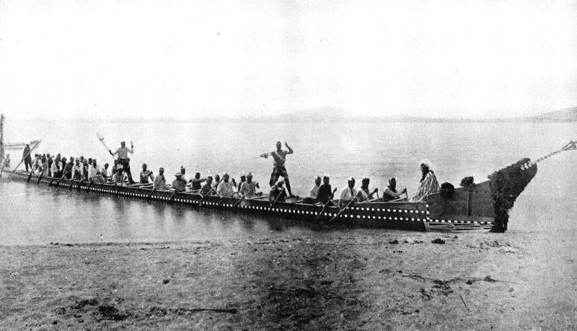 A Maori War Canoe