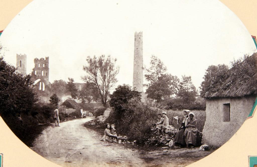 Old photo Kildare roundtower