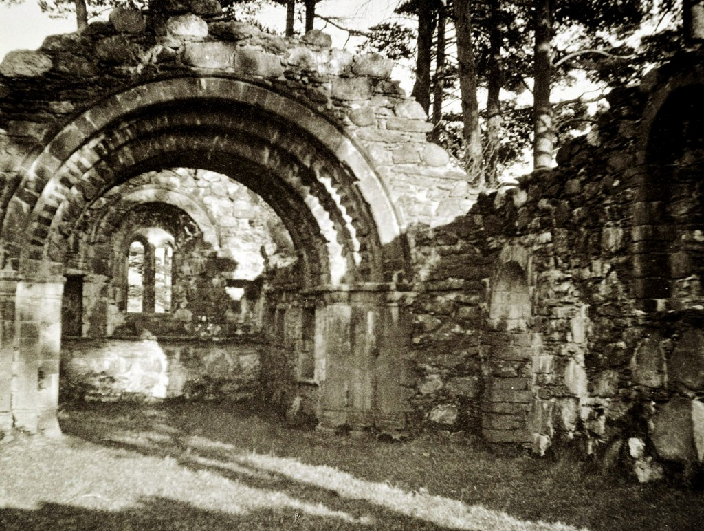 Old photo church Glendalough