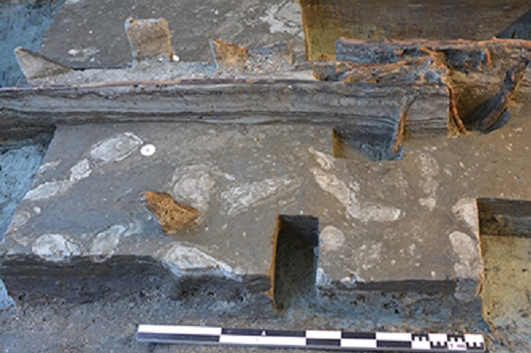 Ancient human footprints