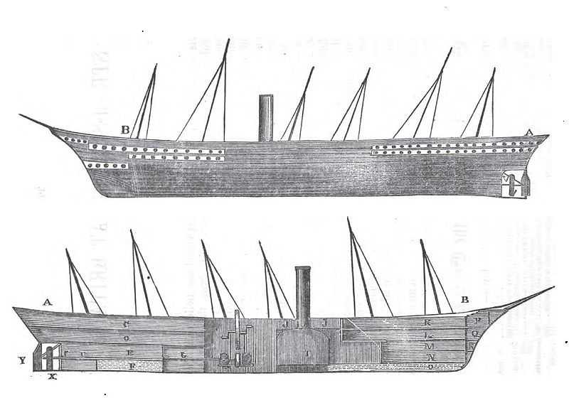 Sketch of the ss Great Britain (source)