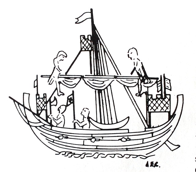 Town seal from Sandwith, c. 1300. (after