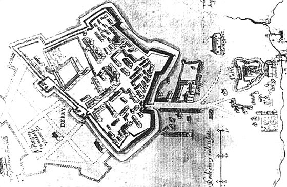 A map of Derry from 1603 (source)