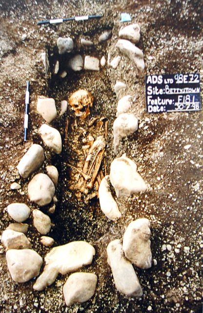 Iron Age crouched burial, Bettystown (Photo James Eoghan)