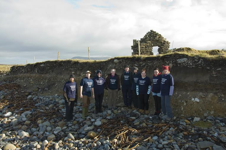 The Weather Beaten Team (L-R): Ciarán Davis, Dr. James Bonsall, Aidan Dowd, Sally Siggins, Michael Gleeson, Rory Connolly, Nadine Morrison, Ciara Losty, Dr. Fiona Beglane