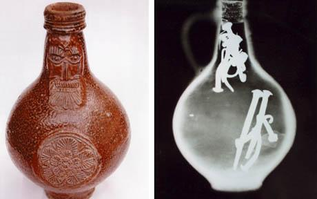 A 17th century 'witch bottle' from London