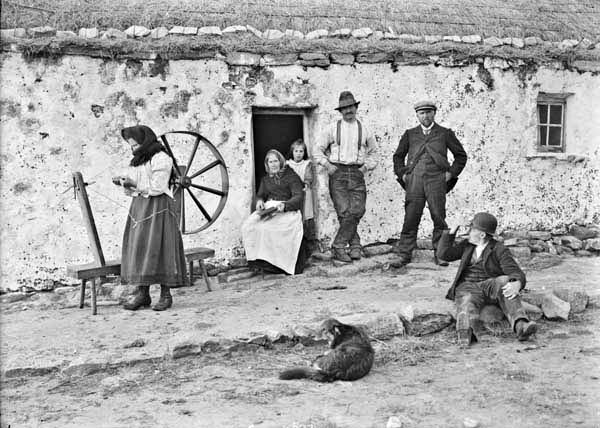 Irish cottage scene