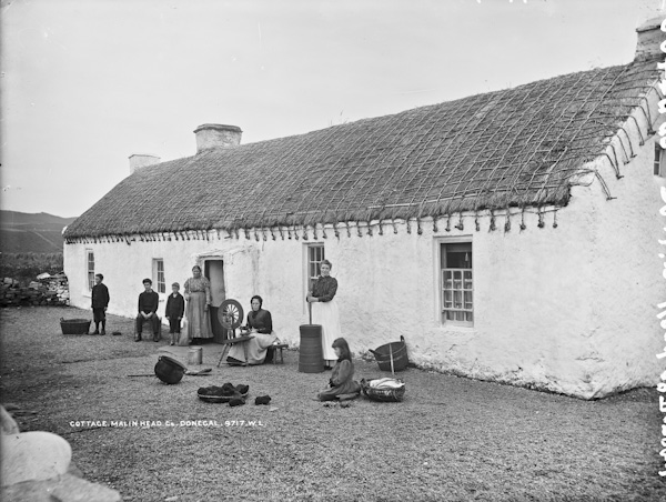 A Donegal cottage, c. 1900 (National Library of Ireland collections)
