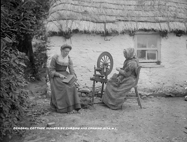 Donegal cottage (National Library of Ireland)