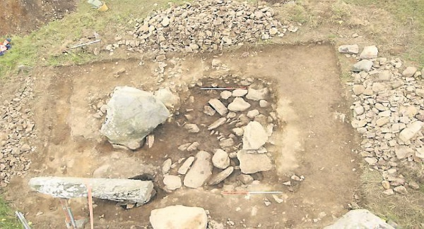 Aerial view of the excavation (photo Michael Connolly)