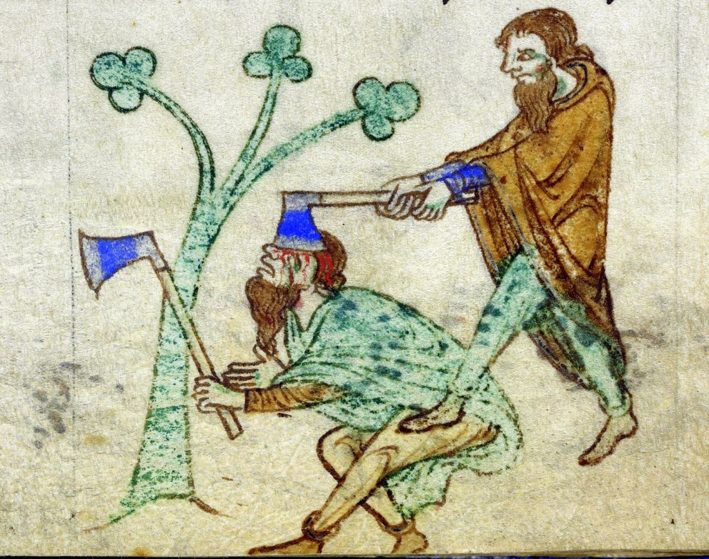 The death and violence during the middle ages