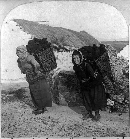 Carry turf, Dooagh village Achill Island, Mayo, 1903