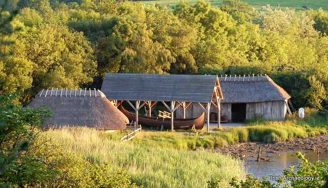 Reconstructed Viking encampment on the banks of the River Slaney, Wexford
